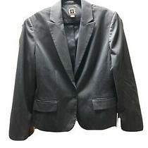 Anne Klein Lined Jacket Blazer Suit Jacket Button Gray Women's Size 14 Photo