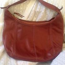 Anne Klein Mahogany Leather Purse Photo
