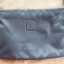 Anne Klein Navy Blue Leather Cross Body Purse Clutch 6 X 10 Removable Strap Photo