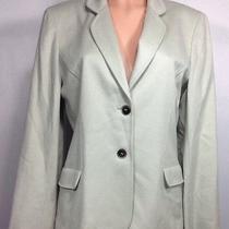 Anne Klein New York Tea Green 100% Cashmere 2 Button Jacket Blazer  Luxurious  1 Photo