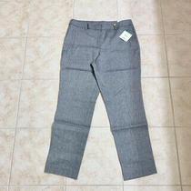 Anne Klein Nwt Womens Sz 8 Stretch Woven Bottoms Slim Ankle Pants Gray/blue 99 Photo