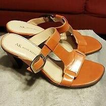 Anne Klein Orange Slide on High Heels Sandals Size 8.5 Med. Absolutely Beautiful Photo
