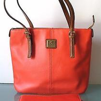 Anne Klein Orange Tote Bag Photo