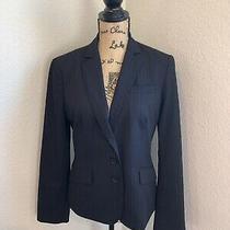 Anne Klein Platinum Blazer Jacket Navy Womens Size 10 Photo