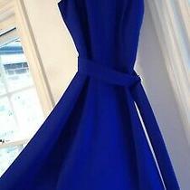 Anne Klein Royal Blue Fit & Flare Dress Size 8 Photo