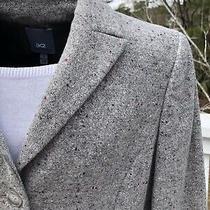 Anne Klein Size 2 Gray Flecked Wool Blend Blazer Jacket 3 Buttons Photo