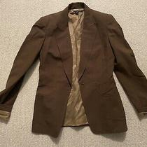 Anne Klein Size 2 Solid Brown Tan Blazer Fully Lined Jacket Photo