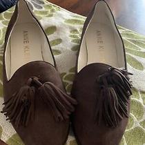 Anne Klein Size 8.5 Brown Suede Flats Photo
