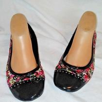 Anne Klein Sport Fabric Flats Floral Size 10m Photo