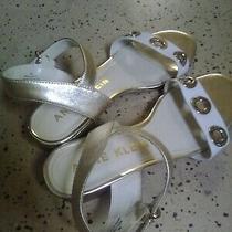 Anne Klein Sport White/gold Flat Akellamae Sandals Size 9 M Photo