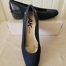 Anne Klein Sport Women's Wisher Fabric Wedge Pump Navy Blue Size 8 Photo