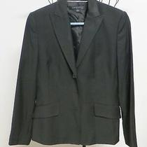 Anne Klein Suit Fully Lined 2 Button Front Black Coat Jacket Size 4 Photo