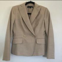 Anne Klein Suit Petite Women's Wool Blend Long Sleeve Tan Blazer Jacket Size 2p Photo