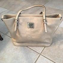 Anne Klein Tote Leather Blush Nude Large Purse Tote Bag Photo