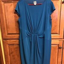 Anne Klein Vibrant Blue 14 Womens Dress Great Cond Good Quality Photo