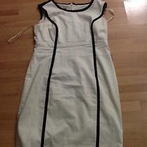 Anne Klein  White Dress With Black Detail Photo