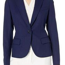 Anne Klein Women's Blazer Midnight Blue Size 12 Single Button 2 Pocket 119 121 Photo