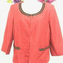 Anne Klein Women's Silk/linen Blazer/jacket Size-8  Beautiful Photo