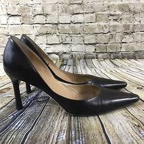 Anne Klein Womens Size 8m Brown Leather Closed Toe Pump Heels Photo