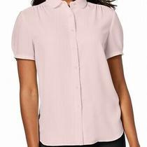 Anne Klein Women's Top Soft Blush Pink Size 14 Button Down Collared 89 014 Photo