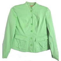 Anne Klein Womens Jacket Sz 4 Pistachio Lined Blazer Cotton Stretch Photo