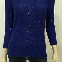 Anne Klein Womens S Pull Over Crew Neck Banded-Hem Knit Sweater Top Chop 47h7z1 Photo