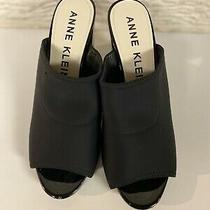 Anne Klein Womens Shoes Mule Slip on Stretch Black Sz 9.5 Usa Brand New Photo