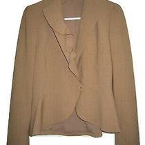 Anne Klein Womens Size 6 Beige Wool Blend Lined Career Blazer Jacket Photo
