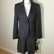 Anne Klein Womens Size 8 Wool Blend One Button Career Skirt Suit in Gray Nwt Photo