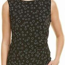 Anne Klein Womens Top Black Size Small S Tank Boat Neck Jersey Gathered 45 366 Photo
