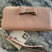 Anne Klein Wristlet Zip Around Slim Wallet Bnwt Blush 48 Photo