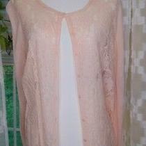 Anne Klein (Xl) Blush Lace Front Cardigan Photo