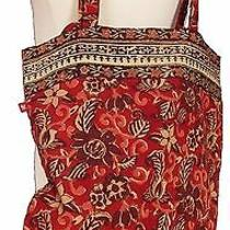 Anokhi Natural Dyed and Printed Floral Cloth Bag - Hand Printed - Cotton Photo