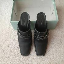 Another Price Drop Gianni Bini - Black Mules -Sz 8.5 M-  Excellent Condition Photo