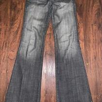 Anthro Freedom of Choice Pants Jeans 26 Blue Flare Dark Denim Stylish Wide Leg Photo