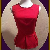 Anthro/urban-Outfitters Red Peplum Top by Kimchi Blue Size Small Photo
