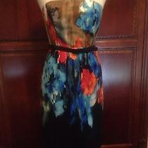 Anthropilogie Gorgeous Water Color Dress Sz 4 Photo