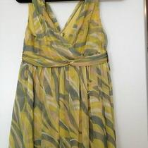Anthroplogie Green and Gold Dress Photo