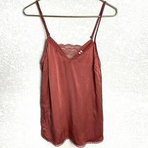 Anthropologie 100% Silk Blush Pink Cami Sleeveless Tank Top Size S Photo