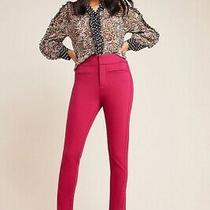 Anthropologie Addison Ultra High-Rise Knit Skinny Pants Size 0 Raspberry Nwt Photo