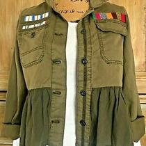 Anthropologie  Adorable Military Cropped  Jacket  Xs   100% Cotton  Nwt 148 Photo