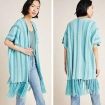 Anthropologie Akemikim Darien Open Front Fringe Kimono Cardigan One Size 148 Photo