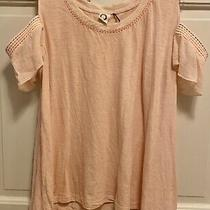 Anthropologie Akemi  Kin Blush Pink Salma Open Shoulder Top. Women's Size Xl Photo
