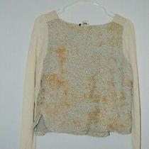 Anthropologie Akemi  Kin Gold Sweater S Photo