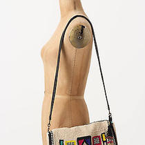 Anthropologie All Things Bag Beaded Jasper & Jeera Ivory Geo Clutch Option New  Photo