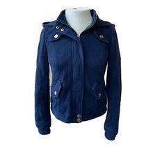 Anthropologie Allihop Falls Pinnacle Jacket Navy Blue Women Long Sleeve Lined 8 Photo