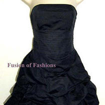 Anthropologie Alythea Black Taffeta Strapless Dress Small Photo