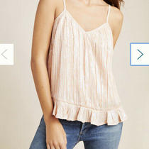 Anthropologie Amelie Pink/blush Beaded/sequenced Cami Size 2 Nwt Photo