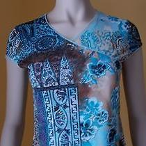 Anthropologie Anac Top Blouse Knit Tunic Sz M 10 12 2 Mint Wearable Art to Wear Photo