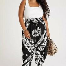 Anthropologie Aniya Tribal Balloon Black White Pants Women's Size S Small Nwt Photo